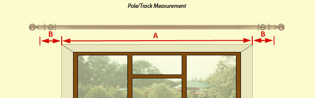 Measure for Curtains pole or Track