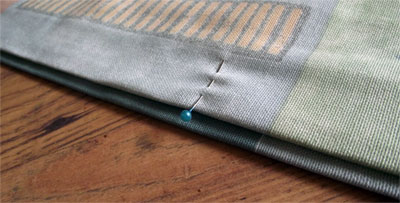 Shorten Curtains - Pin one edge