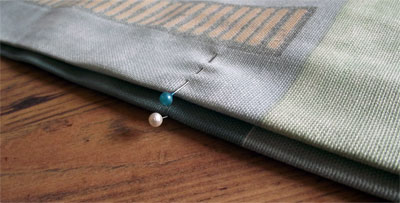 Shorten Curtains - Pin other edge