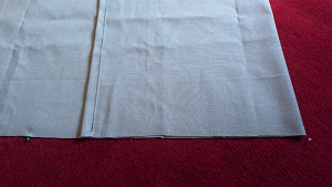 Envelope Cushion Cover first big fold